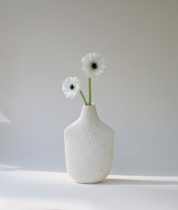 Vase Oiseau Blanc Medium