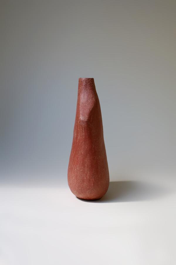 Vase Oiseau Rouge Poli